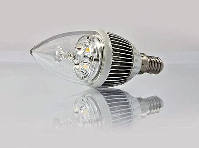 LED Retrofit E14 Kerze 4x1Watt ww